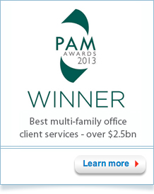 PAM Awards 2013 Winner - Best multi-family office client services - over $2.5bn
